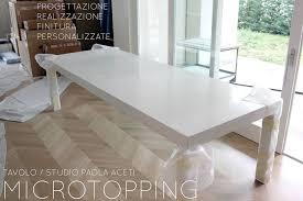 tavoli sala da pranzo tavolo in cemento per sala da pranzo microtopping lemiro srl