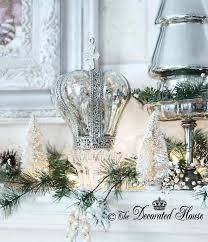 White House Christmas Decorations 2013 by The Decorated House Christmas White And Silver With Mercury Glass