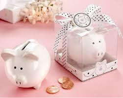 monogram piggy bank mini piggy bank baby shower favors by kate aspen