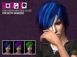 sims 4 blue hair the sims 4 kijiko hairsyle unnatural colors download