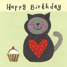 cat cake child s birthday card cat themed cards and gifts