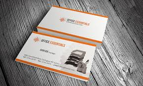 stationery office equipment business card template free