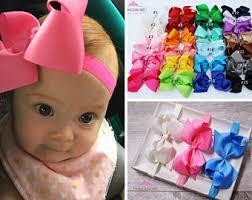 baby girl bows baby girl headband etsy