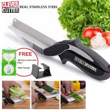 Steel Cutter Prado Clever Cutter Knife Cutting Board Scissors Real Stainless