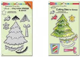 create christmas die set and stamps by stampendous u2013
