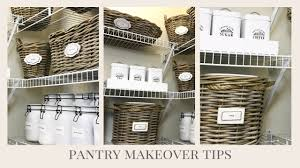 home organization easy tips to help makeover your pantry youtube