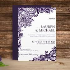 Diy Wedding Invitation Templates Diy Wedding Invitation Template Editable Text Ornate Lace Eggplan