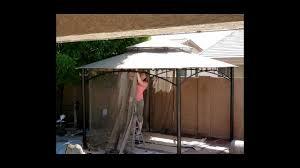14x14 Outdoor Gazebo by Backyard Work With The Damians Part 7 Installing The Gazebo Youtube