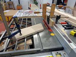 building a scamp sailboat cutting support pieces mast staves and