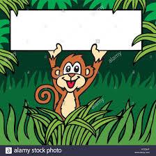 crazy cute monkey vector illustration stock vector art