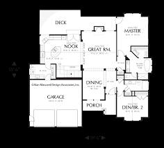 single story house plans with basement main floor plan of mascord plan 1201j the dawson single story