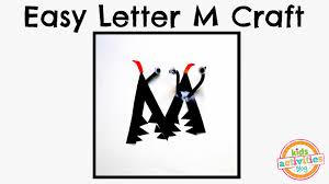easy letter m craft preschool alphabet resource youtube