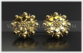 design of earrings kerala gold jewellery design earring 13