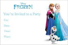 frozen cute free printable invitations a few nice ones to choose