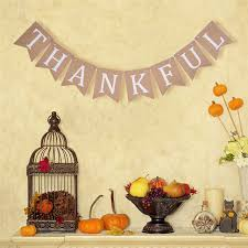 retro thanksgiving day thankful letter banner garland decorative