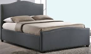 Grey Fabric Ottoman Bed Brunsick Ottoman Bed In Grey Fabric Side Opening Lift 4ft