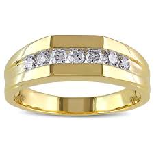 mens diamond engagement rings miadora 10k yellow gold 1 2ct tdw channel set men s diamond ring
