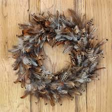 pheasant feather wreath natural