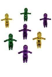 mardi gras babies purple green and gold jumbo king cake babies