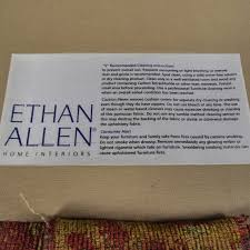 Dry Clean Sofa Cushions 65 Off Ethan Allen Ethan Allen Paisley Cushioned Sofa With Toss