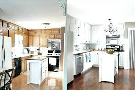 should i paint my kitchen cabinets white painting oak kitchen cabinets white before and after thelodge club