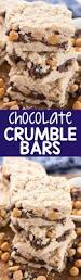 Oatmeal Bars With Chocolate Topping Chocolate Magic Crumble Bars Crazy For Crust
