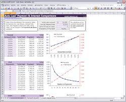 Loan Amortization Spreadsheet Excel by Auto Loan Calculator Download