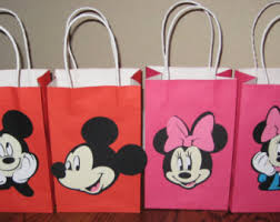 mickey mouse gift bags mickey mouse party etsy