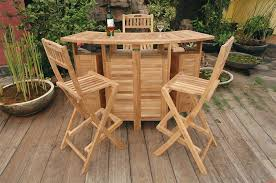 Patio High Table And Chairs Best Wooden Outdoor Bar Height Table U2014 Jbeedesigns Outdoor