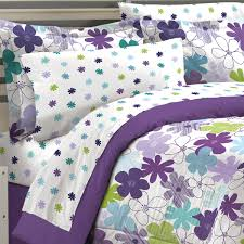 Girls Bedding Purple by Purple Green Floral Daisy Girls Bedding Full Queen Comforter Set