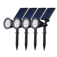 Garden Led Solar Lights by Best Waterproof Outdoor Solar Led Wall Landscape Security