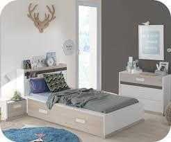 photo chambre enfant chambre enfant iléo blanche et bois set de 4 meubles