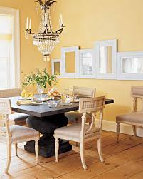 decorated dining rooms yellow rooms martha stewart