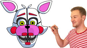 how to draw funtime foxy from fnaf sister location preview