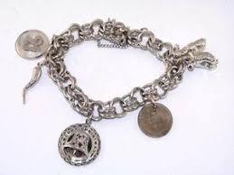 pandora bracelet charms silver images Vintage sterling silver charm bracelet ebay JPG