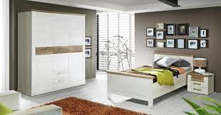 Schlafzimmer Pinie Einzelbett Duro 100 X 200 Cm Bett Im Dekor Pinie Weiß Antik