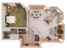 1 bedroom house plan design 3d picture 1 room hdb flat corner 1
