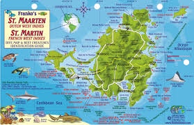 map of st martin st martin fish card franko s fabulous maps of favorite places