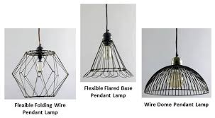 wire cage pendant light wire pendant lighting adds visual interest to kitchen blog regarding