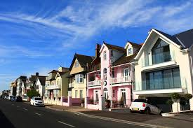 pretty houses pretty houses english town street stock image image of charming