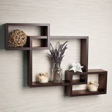 wall shelves driftingwood wall shelf rack set of 3 intersecting wall shelves