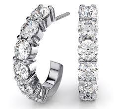 silver diamond earrings diamond earrings sterling silver hoop earrings make a great gift