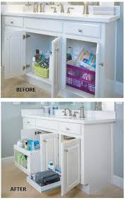 Cabinet Organizers Bathroom - remodelaholic convenient and space saving cabinet organizing ideas