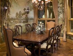 Chandelier Mural Dining Room Inspiring Dining Room Design With Formal Rectangular