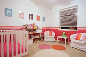 Pink And Orange Bedroom Real Rooms Sherbet Stripes