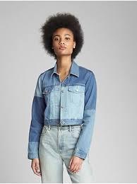 light blue cropped jean jacket jean jacket gap