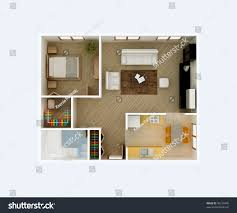 living room floor plans 3d floor plan top view apartment stock illustration 46239445