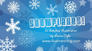 illustrator tutorial snowflakes with the rotate tool youtube