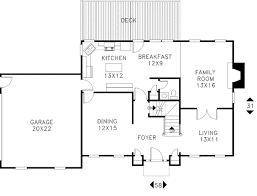 colonial style house plan 4 beds 2 50 baths 1999 sq ft plan 56 145