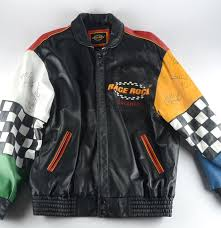 motor leather jacket autographed nascar race rock orlando motorcycle leather jacket ebth
